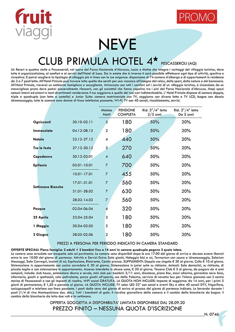 PESCASSEROLI > CLUB PRIMULA HOTEL